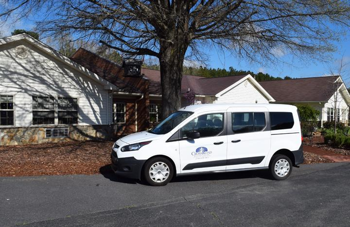 One of our Cross Road vans that assists residents with their appointments