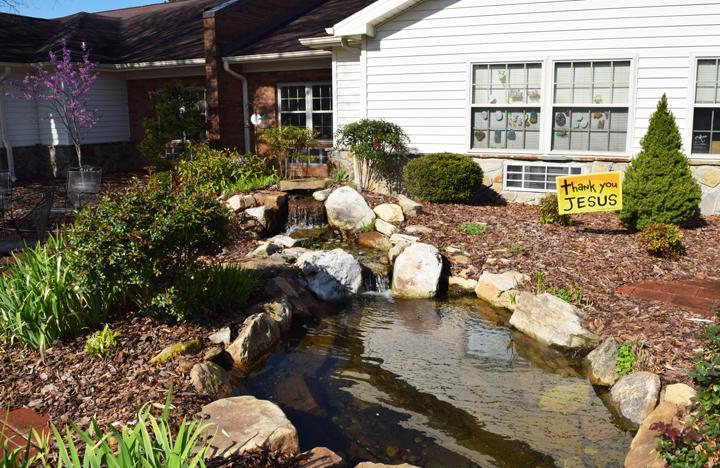 Our natural area outside our Assisted Living Center